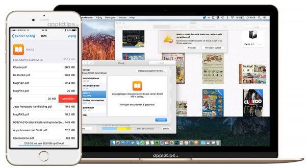icloud ibooks verwijderen