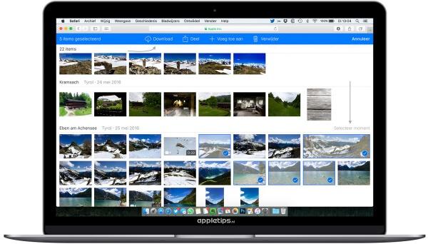 Zo kun je foto's exporteren via iCLoud.com