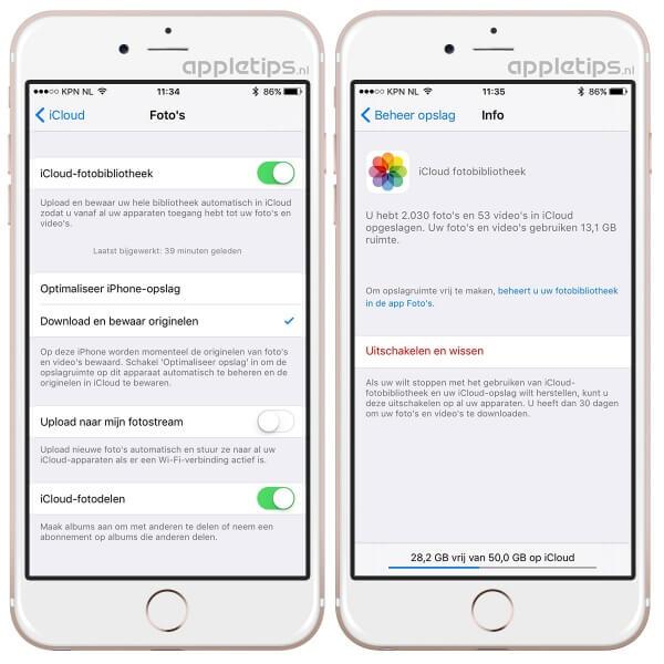 iCloud-fotobibliotheek veilig uitschakelen op een iPhone