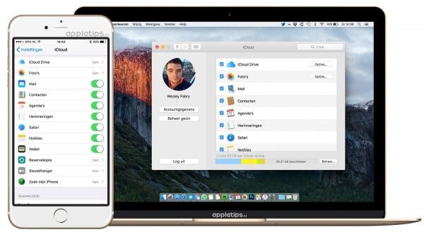 iCloud instellen in iOS en OS X