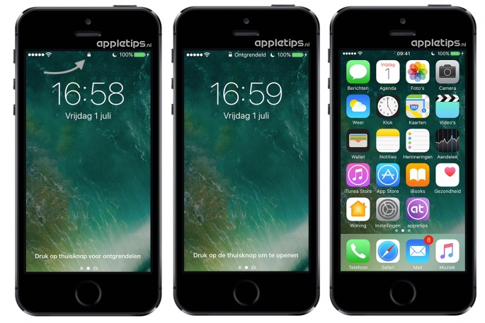 iOS 10 bugs toegangsscherm ontgrendelen