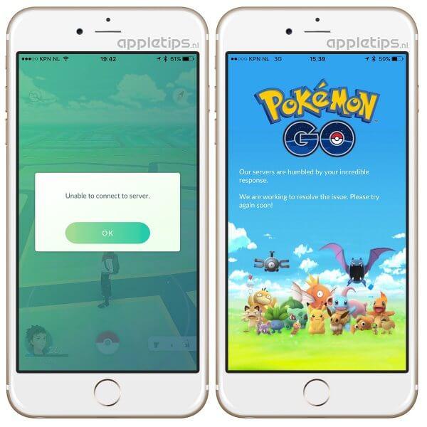 Pokémon Go server en inlog problemen
