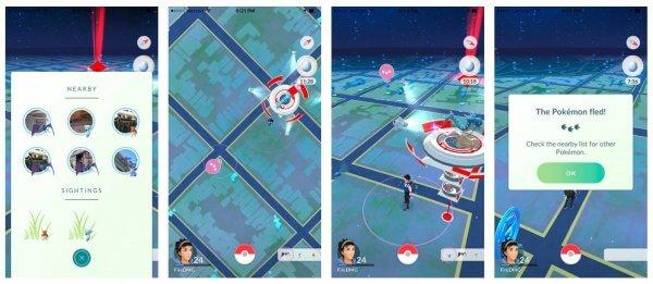 Sightings in Pokémon GO