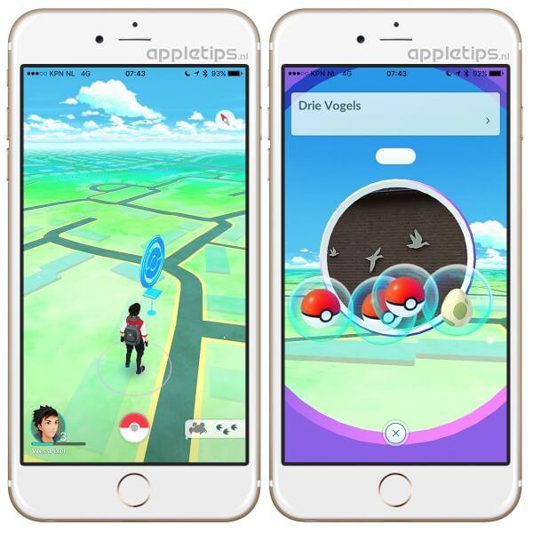 Pokémon Go: Pokestop en pokeballen