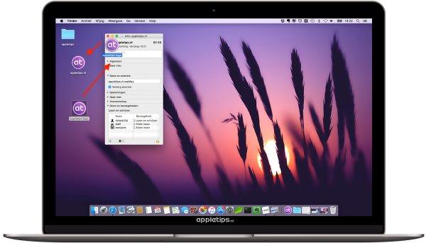 de snelkoppeling aanpassen in OS X