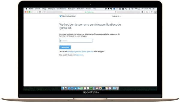 Twee-staps-verificatie Twitter gebruiken