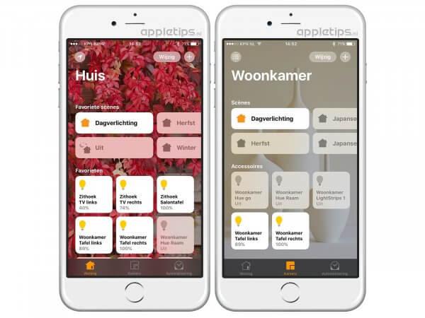 Homekit apparaten inschakelen in Woning HomeKit iOS 10