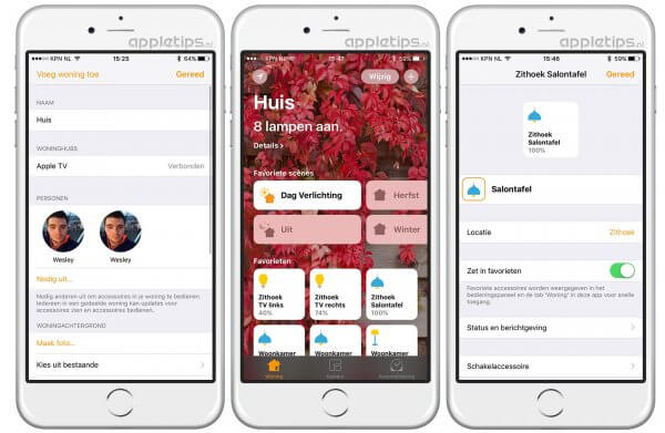 Je woning en huis delen in iOS 10