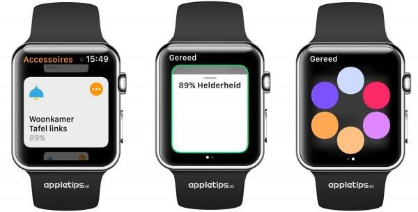 Woning gebruiken op een Apple Watch met watchOS 3