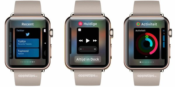 recente apps in het Dock in watchOS 3