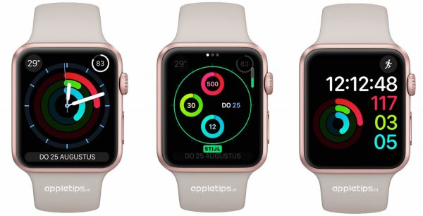 activiteit wijzerplaten watchOS 3 Apple Watch