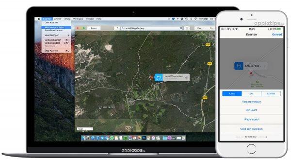 Apple Maps problemen melden