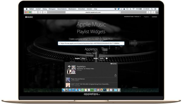 Apple Music Widget aanmaken en delen