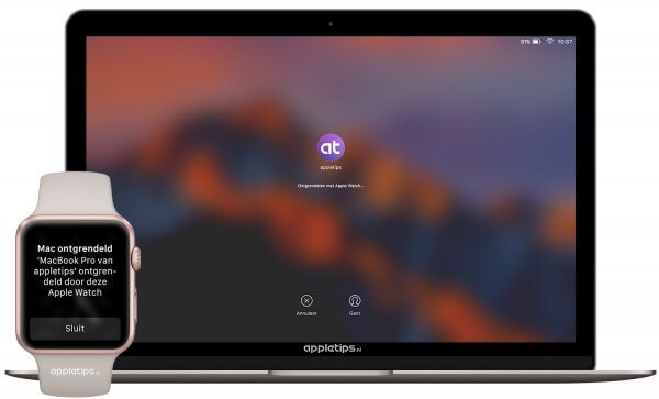 Een mac ontgrendelen met een Apple Watch in macOS Sierra