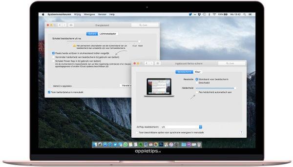 Automatisch helderheid en dimmen uitschakelen in OS X (macOS)