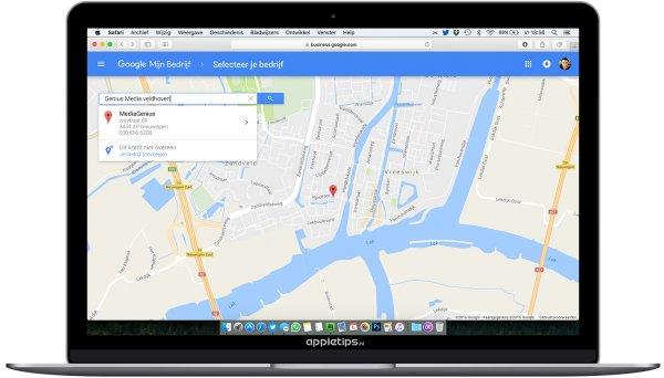 google maps bedrijf toevoegen