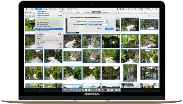 diavoorstellingen maken in Foto's voor Mac