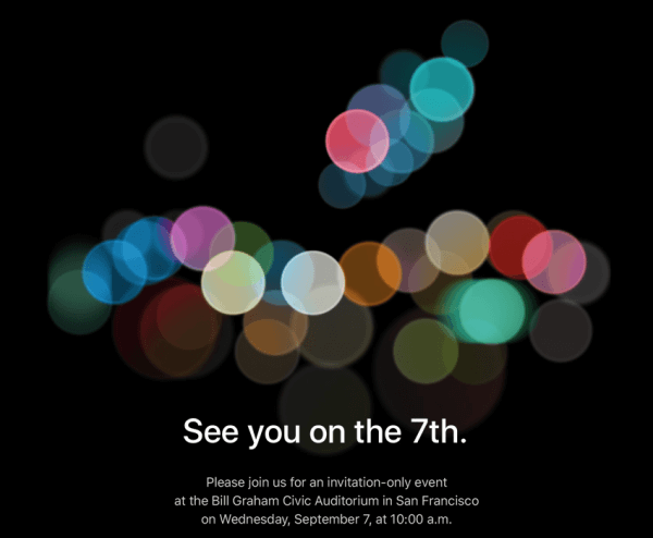 Apple speciaal event iphone 7