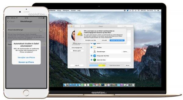 iCloud-sleutelhanger uitschakelen en verwijderen