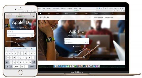 icloud-sleutelhanger wachtwoorden in iOS en MAc