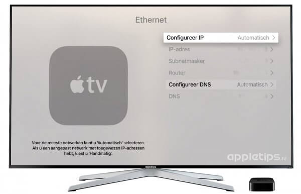 netwerk Apple TV DNS aanpassen