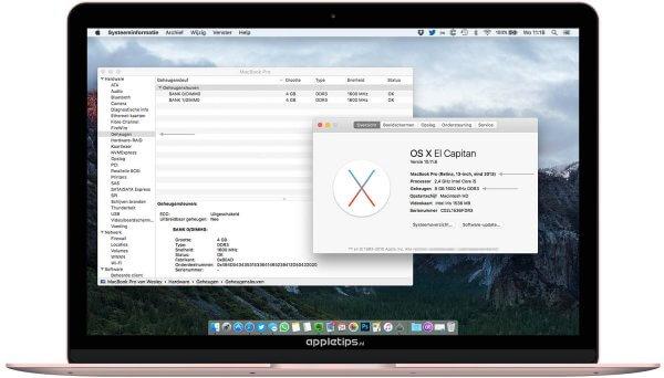 over deze mac, macOS sierra voorbereiden
