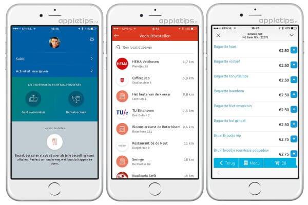 vooruitbestellen met PayPal ios app