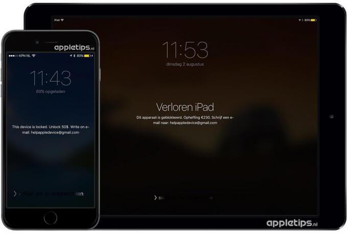 ransomware op een iPhone of iPd