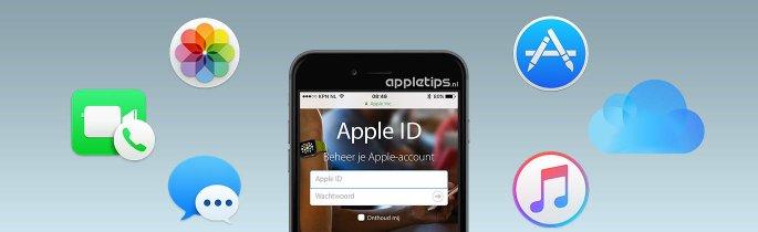 Apple ID met diensten zoals Apple Music, iCloud-fotobibliotheek, etc.