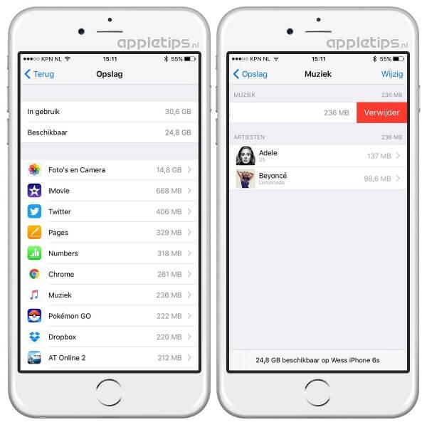 Verwijder alle muziek in één keer in iOS