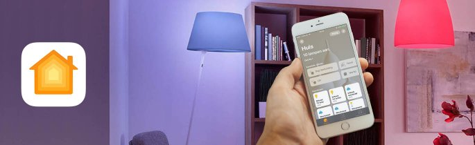 woning app ios 10 voorbeeld met Hue lampen