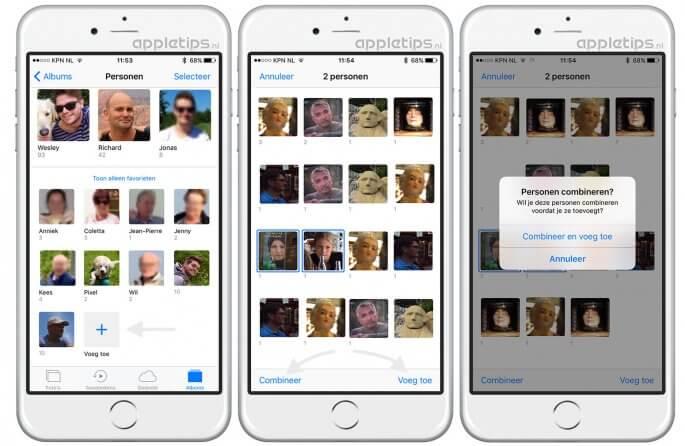 iOS 10 personen toevoegen aan foto's