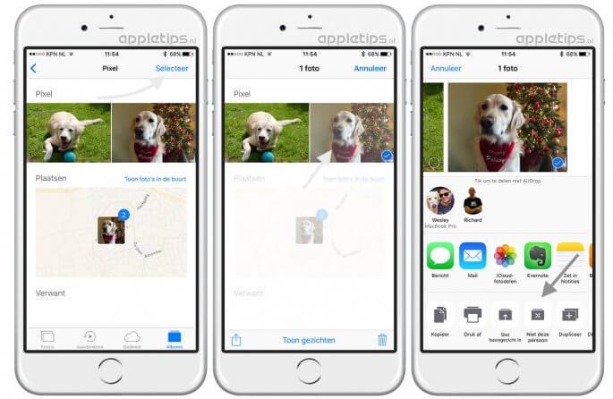 Foto's iOS 10 personen verkeerde