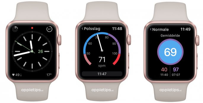 hartslag controleren via HeartWatch Apple Watch app
