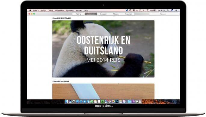 Aandenkens bekijken in macOS sierra