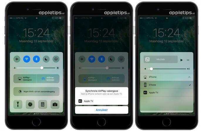 Airplay Synchrone weergave iOS 10