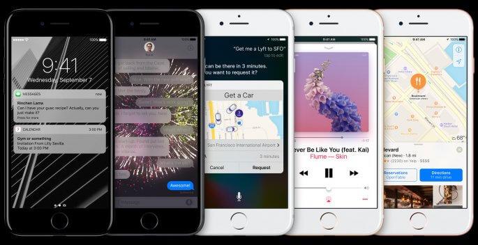 iOS 10 op de nieuwe iPhone 7 Plus
