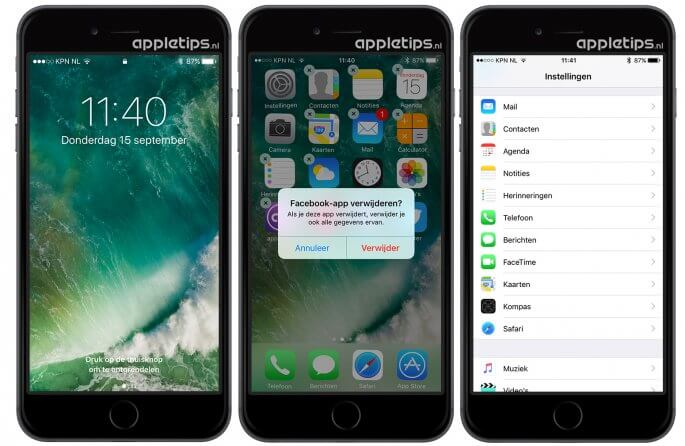kleine wijzigingen iOS 10 ontgrendelen, verwijderen en instellingen