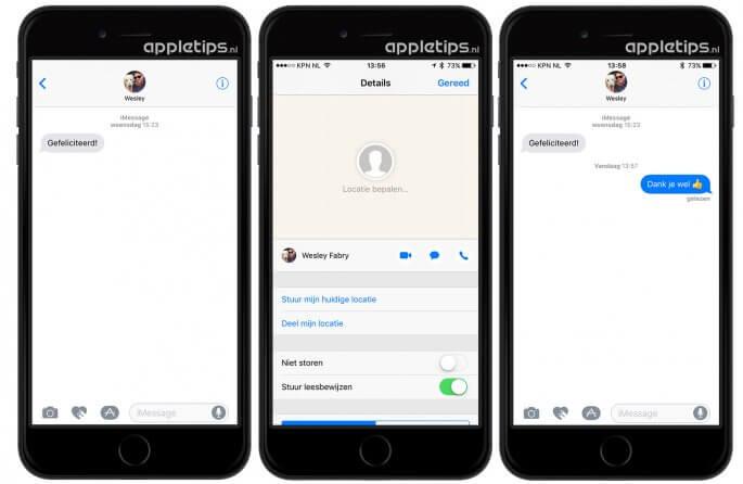 Leesbewijzen uitschakelen of inschakelen per persoon in iOS