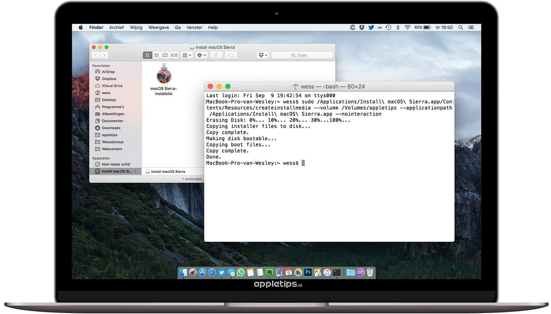 macOS Sierra: Een (installatie) bootable USB stick maken - appletips