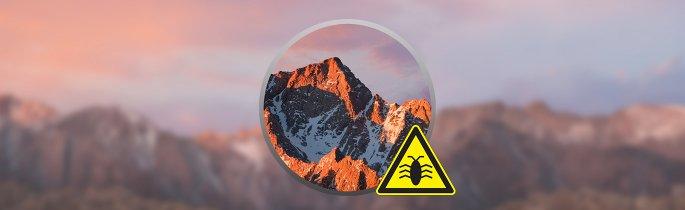 macOS Sierra bugs uitgelicht