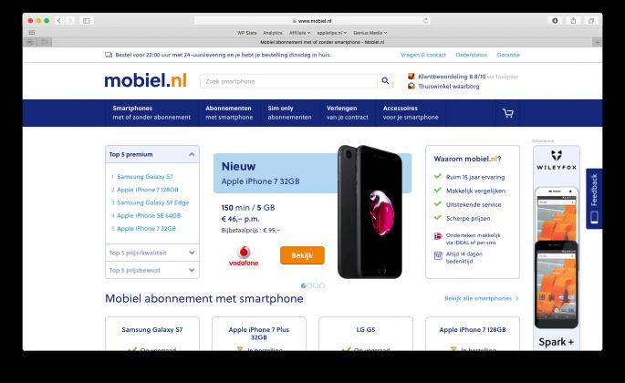 mobiel-nl-webpage