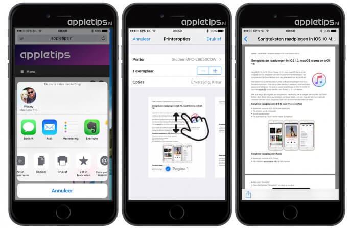 pdf-bestanden maken in iOS 10