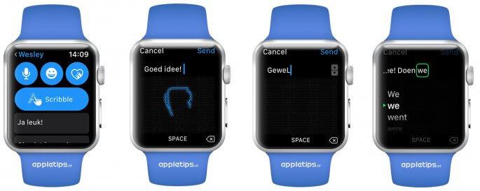 scribble gebruiken op een Apple Watch