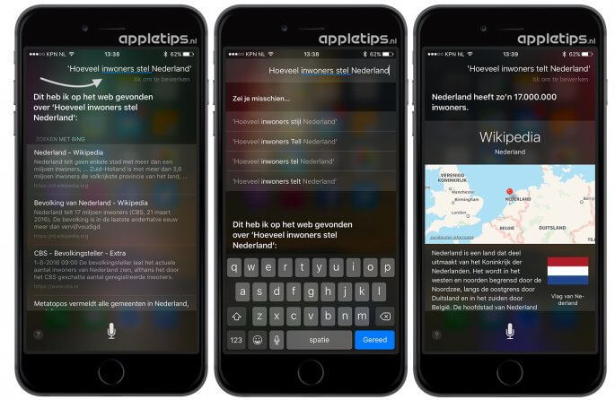 Siri suggesties gebruiken wanneer siri je niet begrijpt