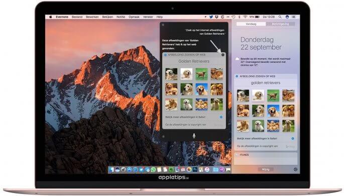 siri resultaten vastzetten in macOS Sierra
