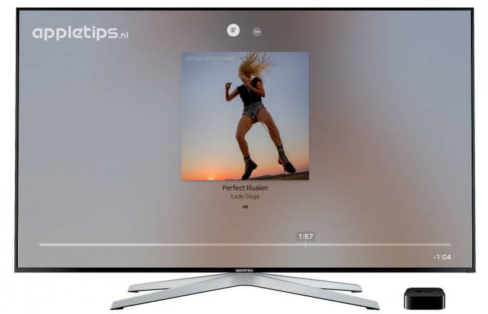 Songteksten activeren in tvOS 10 voor Apple TV