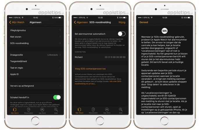 SOS-noodmelding instellen op de iPhone