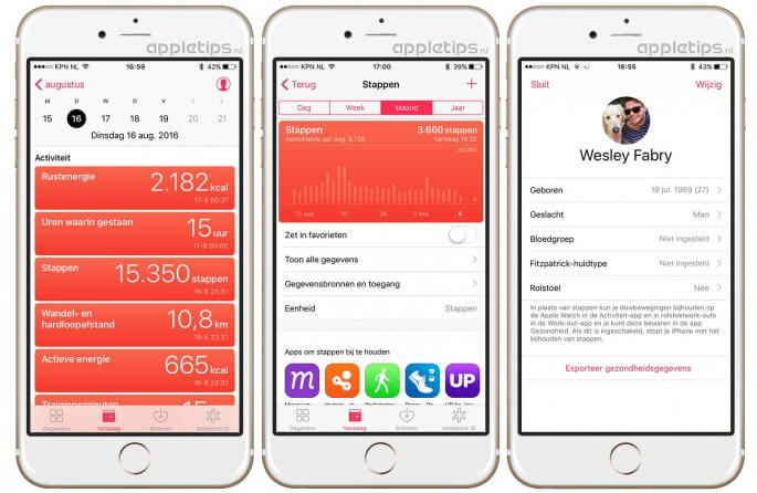 Gezondheid 'Vandaag' iOS 10