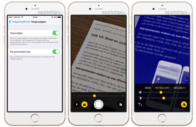Vergrootglas gebruiken in iOS 10